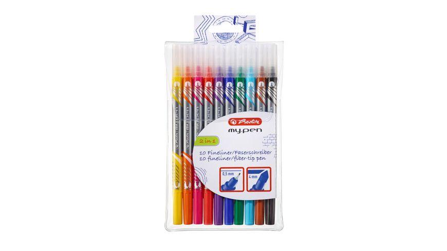 herlitz Fineliner Faserschreiber My Pen 10 er Etui