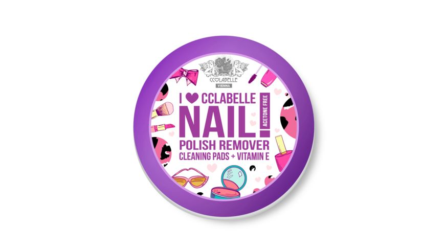 CCLABELLE Nagellackentferner Pads I Love CCLABELLE