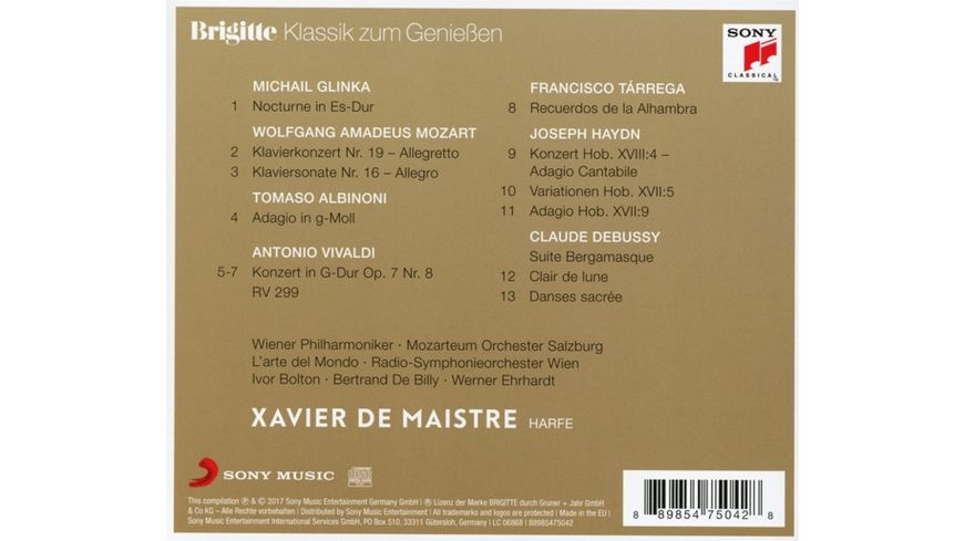 Brigitte Klassik zum Geniessen Xavier de Maistre