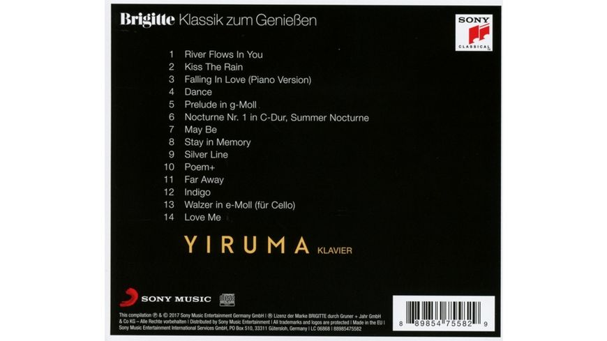 Brigitte Klassik zum Geniessen Yiruma