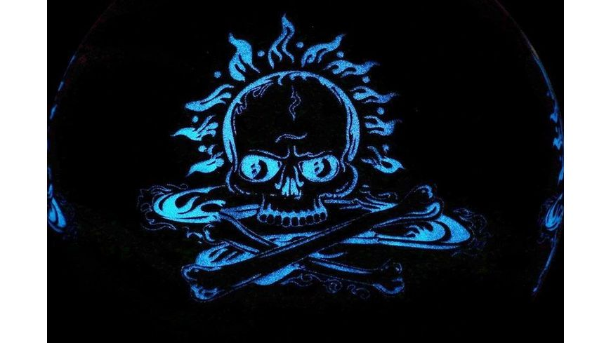 Best Fussball Glow In The Dark Totenkopf blau Groesse 5