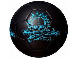 Best Fussball Glow In The Dark Totenkopf blau Groesse 5