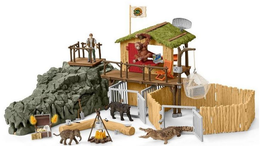 Schleich Wild Life Dschungel Forschungsstation Croco