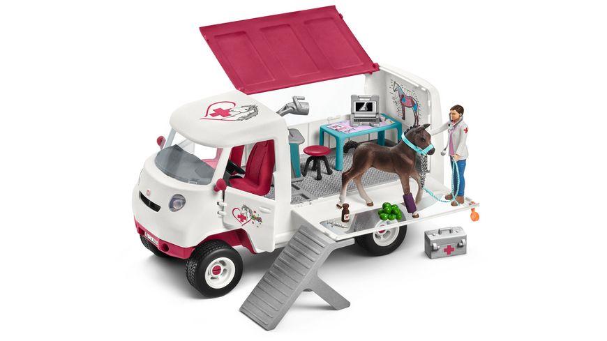 Schleich Horse Club Mobile Tieraerztin mit Hannoveraner Fohlen