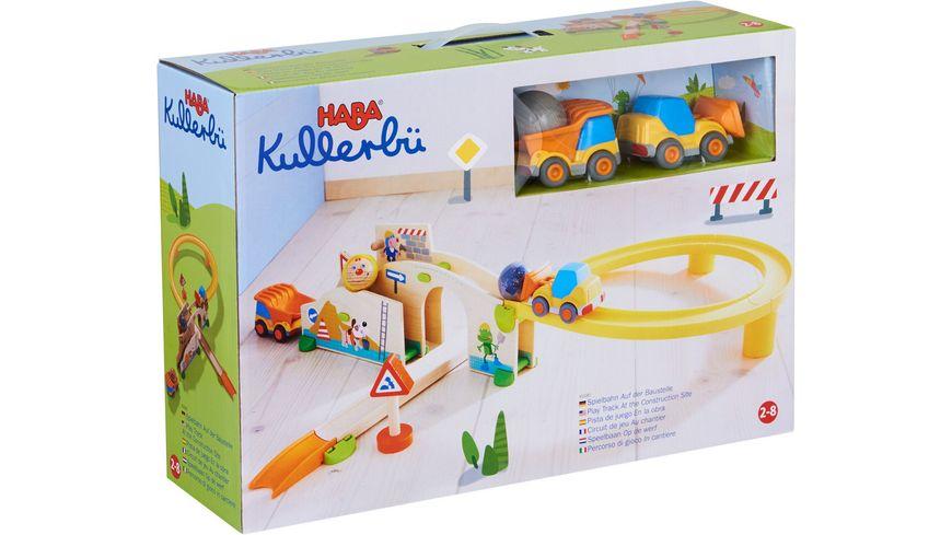HABA Kullerbue Spielbahn Auf der Baustelle