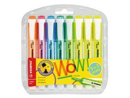 STABILO Textmarker STABILO swing cool 8er Pack mit 8 verschiedenen Farben