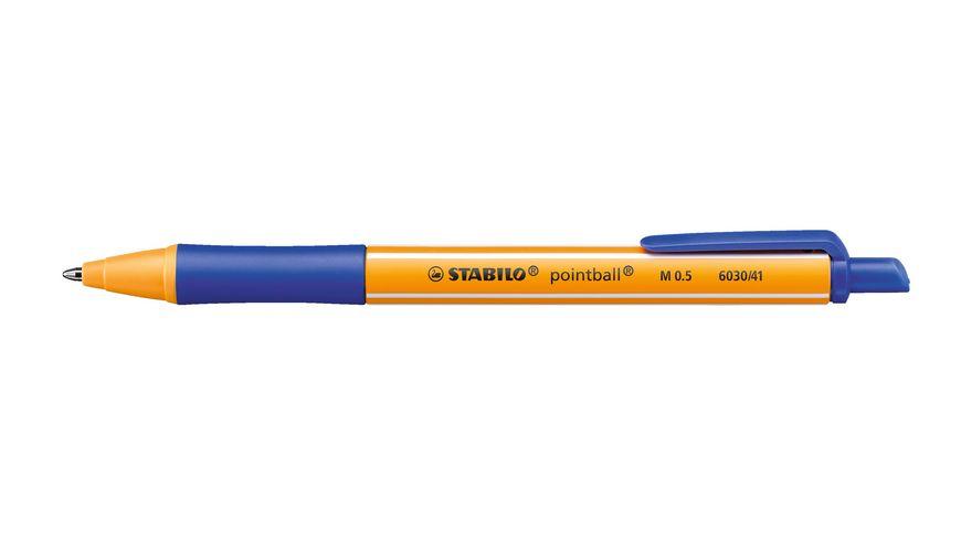 STABILO Kugelschreiber pointball 4er Etui
