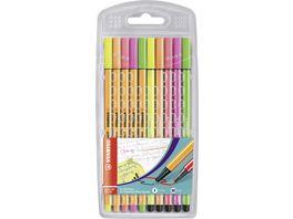 STABILO Fineliner Filzstifte STABILO point 88 Pen 68 10er Pack Neonfarben