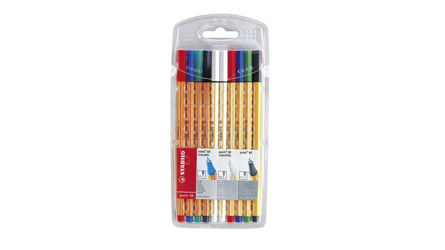 STABILO Fineliner point 88 colorkilla erasable 10er Pack