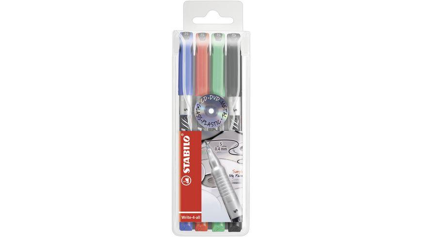 STABILO Permanent-Marker Write-4-all SF 4er-Pack