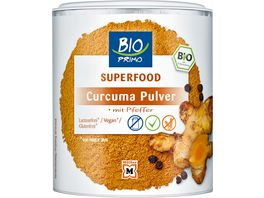 BIO PRIMO Superfood Curcuma Pulver