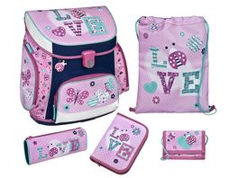 Scooli Campus Up Schulranzen Set 5tlg Ladybug