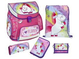 Scooli Campus Up Schulranzen Set 5tlg Fluffy