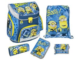 Scooli Campus Up Schulranzen Set 5tlg Minions