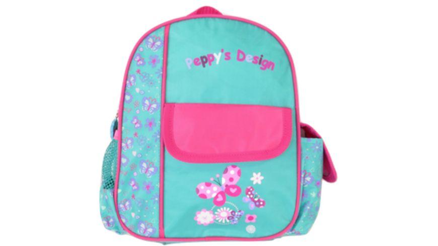 Peppy s Kinderrucksack tuerkis pink