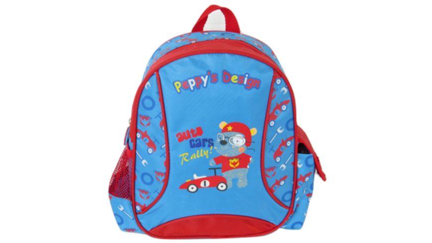 Peppy s Kinderrucksack blau rot