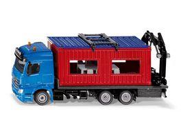 SIKU 3556 Super LKW mit Baucontainer