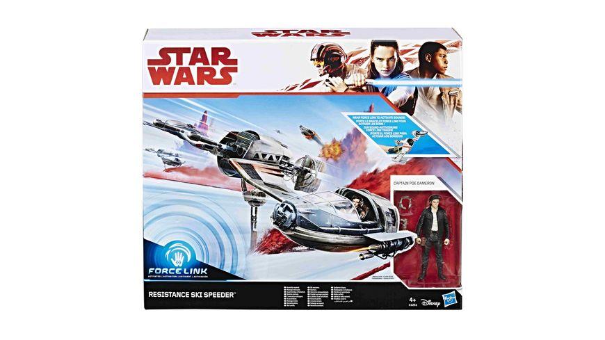 Hasbro Star Wars Episode 8 Forcelink Ski Speeder mit 3 75 Poe Dameron Figur