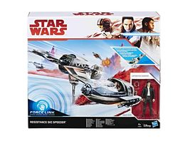Hasbro Star Wars Episode 8 Forcelink Ski Speeder mit 3 75 Poe Dameron Figur