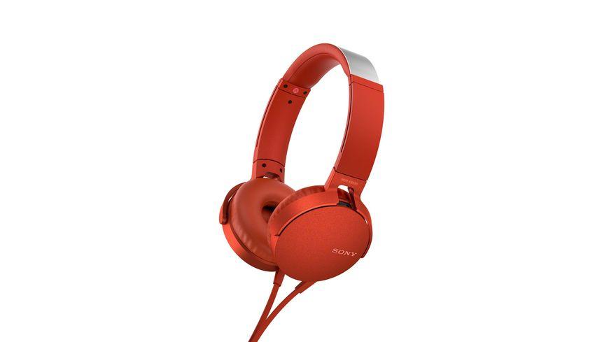Sony Kopfhoerer MDR XB550 AP Rot