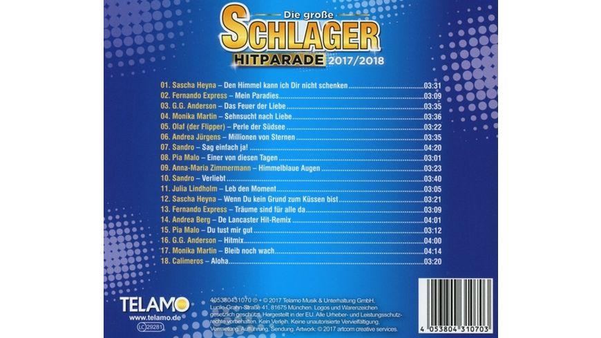 Die grosse Schlager Hitparade 2017 2018