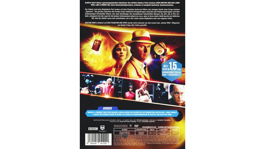 Doctor Who Fuenfter Doktor Die Hoehlen von Androzani 2 DVDs