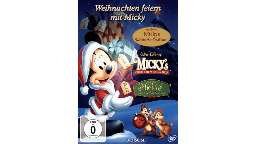 Weihnachten feiern mit Micky 3 DVDs
