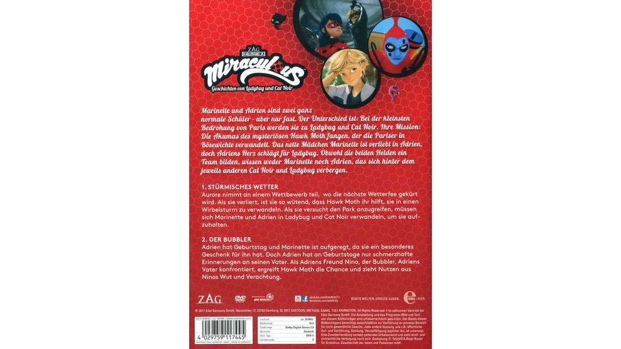 Miraculous Folge 1 Stuermisches Wetter Der Bubbler DVD