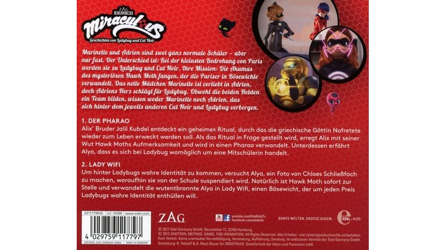 Miraculous Folge 2 Der Pharao Lady WiFi CD
