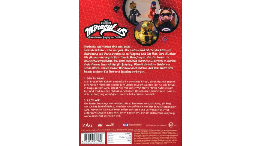 Miraculous Folge 2 Der Pharao Lady WiFi DVD