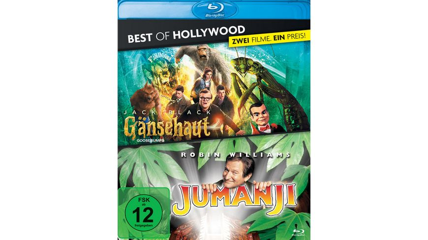 Gaensehaut Jumanji Best of Hollywood 2 Movie Collector s Pack 2 BRs