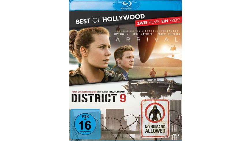 Arrival District 9 Best of Hollywood 2 Movie Collector s Pack 2 BRs