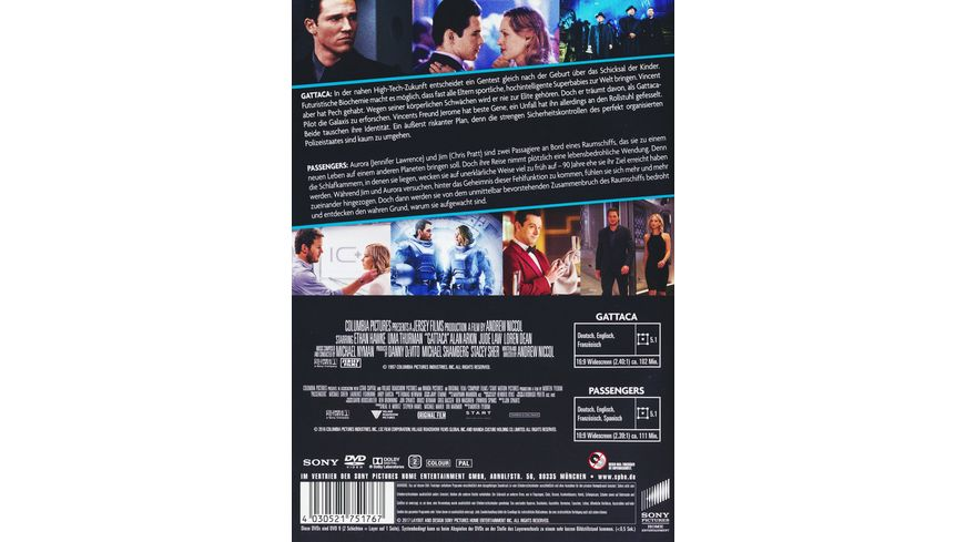 Gattaca Passengers Best of Hollywood 2 Movie Collector s Pack 2 DVDs