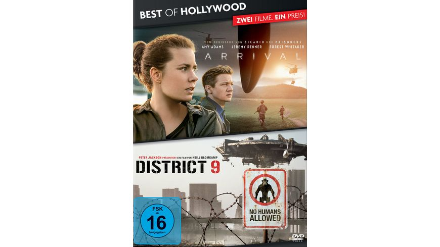 Arrival District 9 Best of Hollywood 2 Movie Collector s Pack 2 DVDs