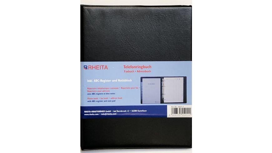 RHEITA Adressen-Telefonregister A5 mit Block
