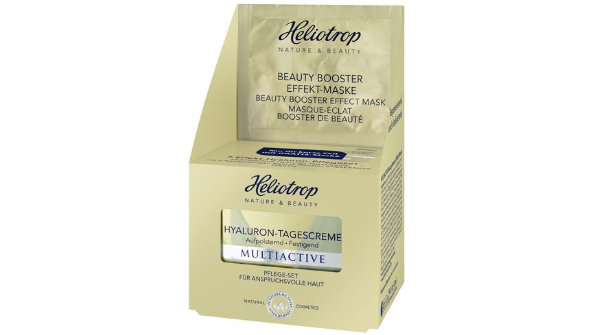 Heliotrop MULTIACTIVE Hyaluron Tagescreme + gratis Beauty Booster Effekt-Maske
