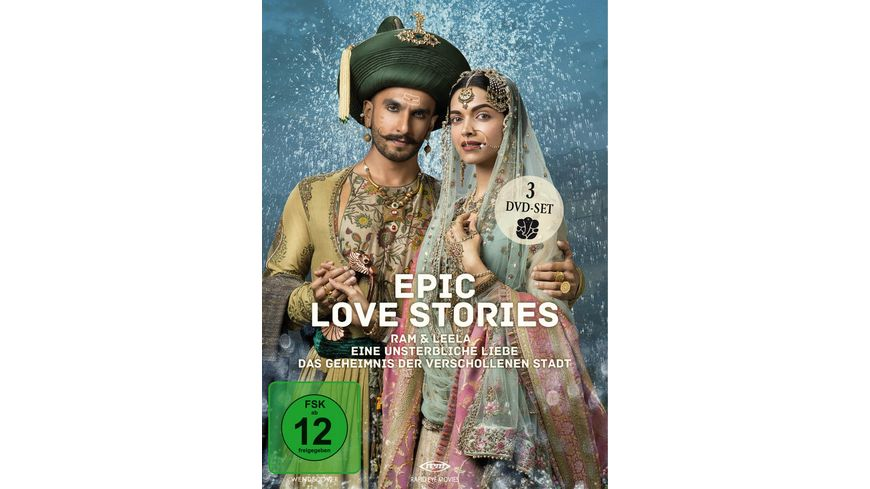 Epic Love Stories 3 DVDs