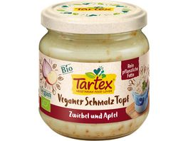 Tartex Veganer Schmalz Topf Zwiebel Apfel