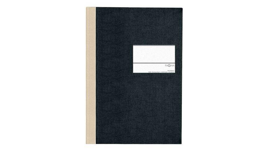 PAGNA Geschaeftsbuch Classica A4 schwarz kariert