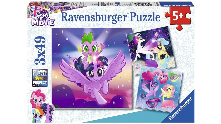 Ravensburger Puzzle Abenteuer mit den Ponys 3 x 49 Teile