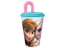 p os Handel Disney Frozen Trinkbecher 430 ml Trinkhalm