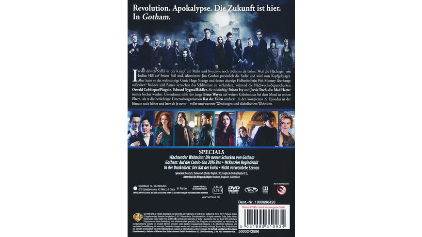 Gotham Staffel 3 6 DVDs