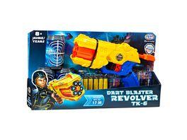 Mueller Toy Place Soft Gun Dart Blaster Revolver TK 6