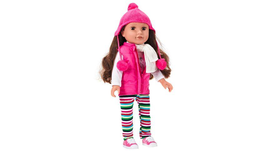 Mueller Toy Place Puppe Modern Girl Pferde 45 cm bewegliche Augenlieder