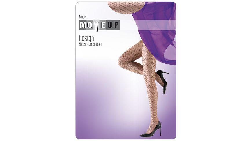 MOVE UP Design Netzstrumpfhose Lurex