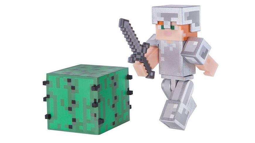 Jazwares Minecraft Alex mit Eisenruestung