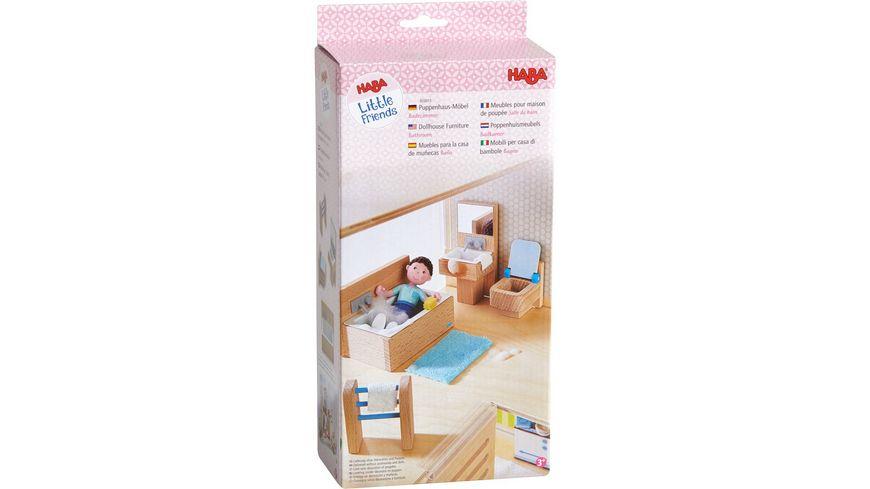 HABA Little Friends Puppenhaus Moebel Badezimmer