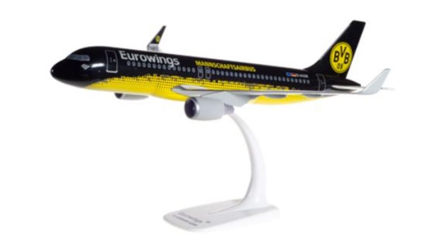 Herpa 611602 Wings Eurowings Airbus A320 BVB Mannschaftsairbus D AIZR