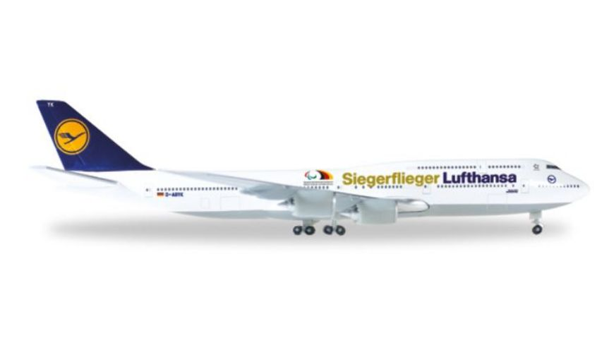 Herpa 530033 Wings Lufthansa Boeing 747 8 Intercontinental Siegerflieger Paralympics Rio 2016
