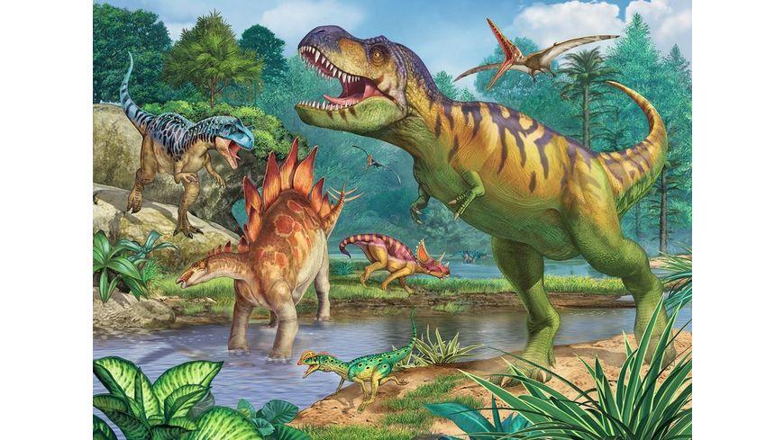 Ravensburger Puzzle Welt der Dinosaurier 100 Teile XXL